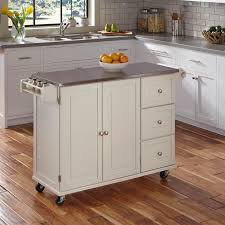 home styles liberty kitchen cart with stainless steel top hayneedle