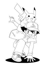 pokemon coloring pages misty pikachu baseball player pokemon coloring page boys coloring pages