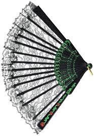 black lace fan fan black lace party accessory 1 count 1