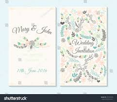 Baby Shower Invitations And Thank You Cards Wedding Invitation Thank You Card Save Stock Vector 357763748