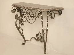Stone Console Table Stellar And Ornate Iron And Stone Console Table W Tremendous