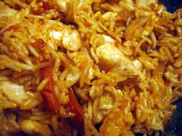 cuisiner du riz blanc cuisine du placard poulet et riz sauce aigre douce chez requia