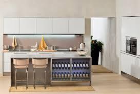 modern modern kitchen with wine rack