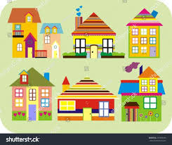 cute houses home sweet home stock vector 276345743 shutterstock