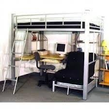 full size loft bed with desk underneath foter
