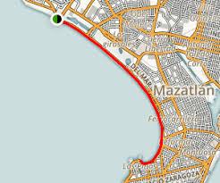 sinaloa mexico map malecón de mazatlan sinaloa maps photos for hiking biking
