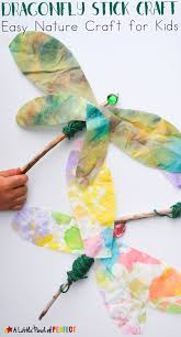 beautiful dragonfly stick craft easy nature craft for kids
