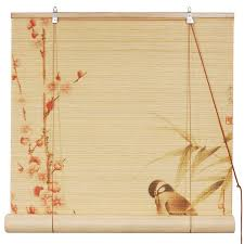 amazon com oriental furniture love birds bamboo blinds 24 in