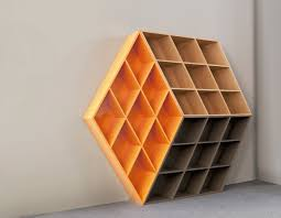 a wooden bookcase inspired by the rubik u0027s cube design milk