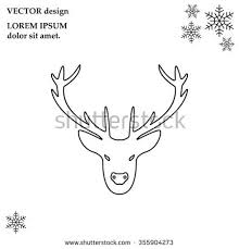 illustration deer head silhouette icon stock vector 566979637