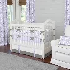 Lilac Nursery Curtains Lilac Twirly Crib Bedding Contemporary Atlanta By