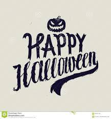 happy halloween scary calligraphy stock illustration image 60642746