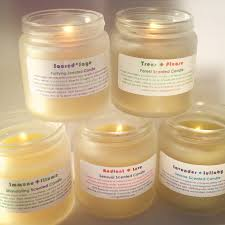 set of 5 scented candles 1 each living libations