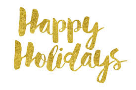 happy holidays gold foil text ccpixs