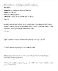 Sample Resume For Call Center Representative Sample Resume For Call Center Representative Customer Service