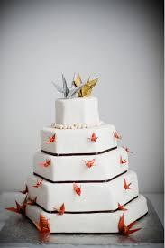 Origami Wedding Cake - wedding cake of the day origami cranes origami cranes origami