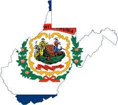 Map Of West Va File Flag Map Of West Virginia Svg Wikimedia Commons