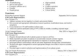 Sample Resume For Call Center Representative by Telephone Customer Service Representative Resume