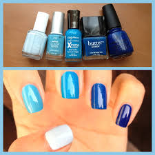 what i blog about when i blog about books notd blue ombre nails