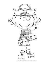 pirate coloring pages for preschool eson me