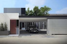 modern house garage yak10 designed by aad located in bangkok keribrownhomes