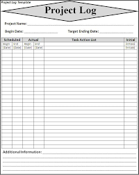 project log template word excel formatslog template client call