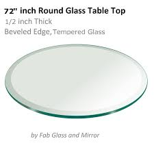 72 Inch Round Dining Table Glass Table Top 72 Inch Round 1 2 Inch Thick Beveled Tempered