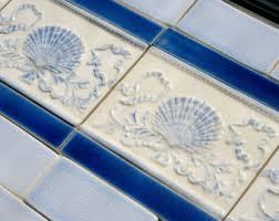 French Blue And White Ceramic Tile Backsplash Backsplash Etsy