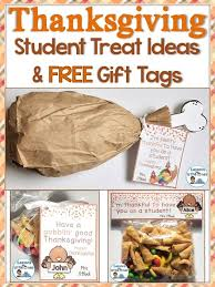 free thanksgiving student gift tags treat bag toppers bag