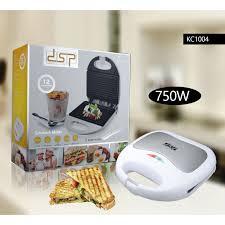 DSP White Household Kitchen Appliances 2 Slice Electric Sandwich