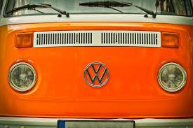 volkswagen bus beach orange volkswagen beatle van free stock photo