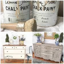 Different Ways To Paint A Table Vintage Refined Two Colors Two Ways Old Ochre U0026 French Linen