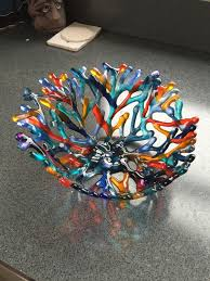 a client wanted an orange and blue coral bowl i was not sure