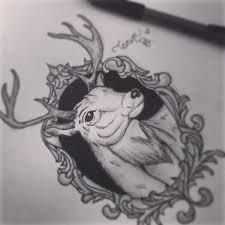 deer sketch tattoo idea by taryntragedyy on deviantart