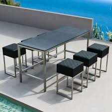 Patio Bar Furniture by Outdoor Bar Height Table And Chairs Sosfund