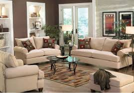 interior trendy home interiors cream colored sofa plaid pattern