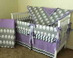 Purple Elephant Crib Bedding Elephant Crib Set Etsy