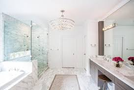 this gallery shows both master bath and secondary lighting ranging from clean contemporary to softer transitional lighting