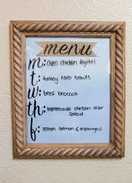 kitchen white board easy kitchen menu planner diy michelle got married
