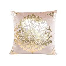 coussin de luxe pour canapé coussin de luxe pour canape coussin couvre floral or velours de