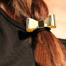 hair cuff hot metal bow tie hair band cuff wrap pony rope