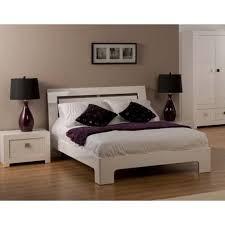 Bari Bedroom Furniture World Furniture Bari High Gloss White Bed And Bedside Chest Set