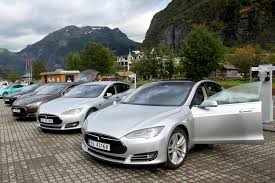 electric vehicles tesla file five tesla model s electric cars in norway jpg wikimedia