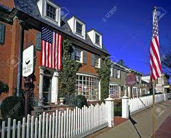 a typical small town in the northeast usa stock photo picture and