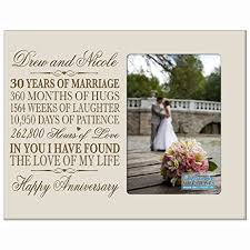 30 year anniversary gifts personalized 30th year wedding anniversary picture