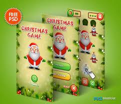 christmas game app psd for mobile ui download free psds website