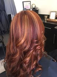 hair with highlights and violet low lights