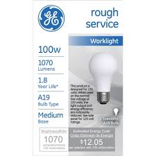 rough service light bulbs ge rough service incandescent light bulb 100 watts 1070 lumens 2800
