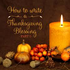 how to write a thanksgiving blessing blue mountain