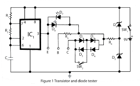 transistor and diode tester electronics project